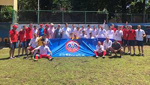 Врачи-футболисты победили на играх в Черногории при поддержке «Швабе»